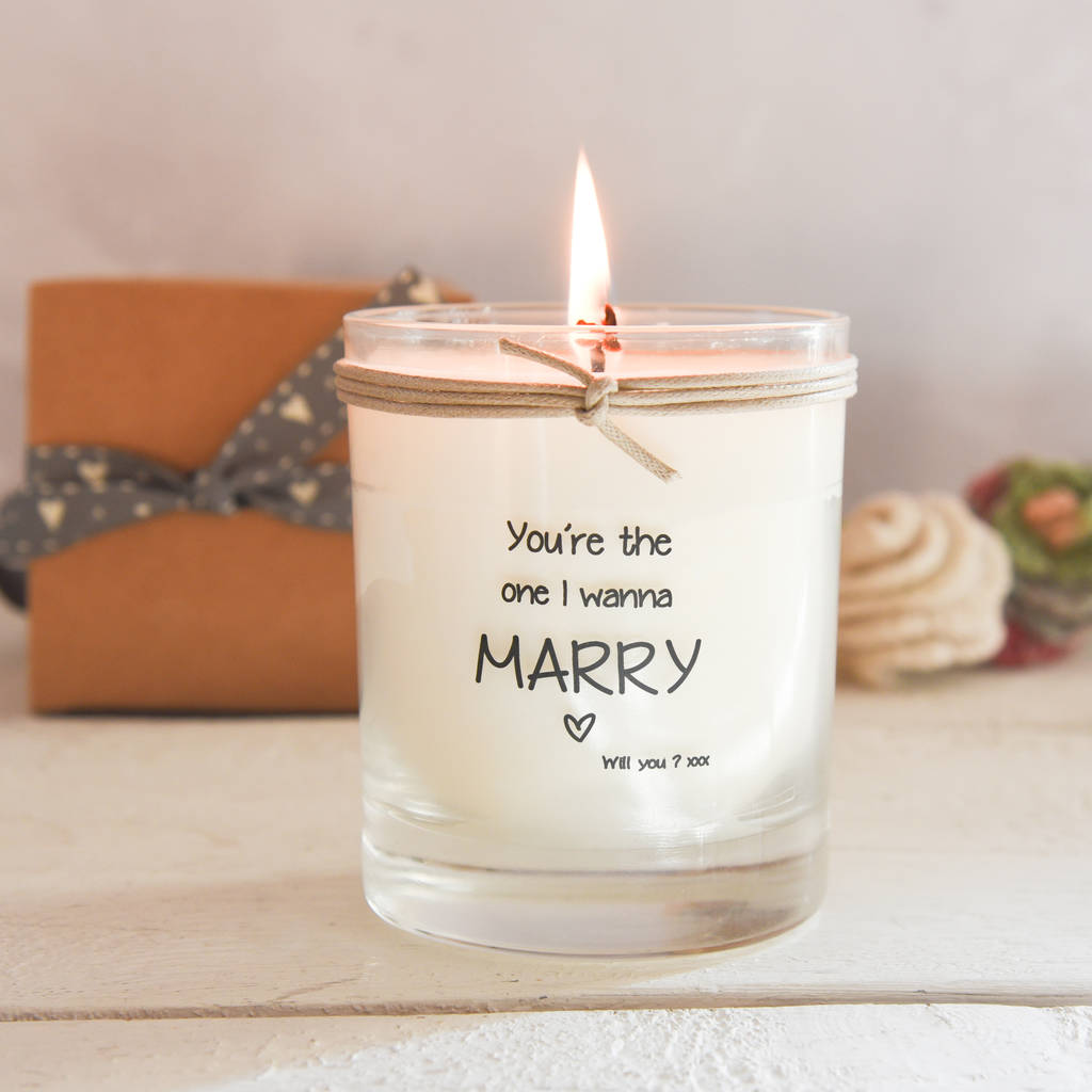 You're The One I Wanna Marry Scented Candle