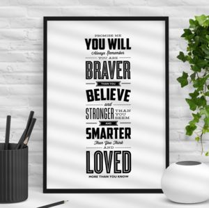 'You Are Loved More Than You Know' Typography Print - summer sale