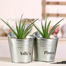 Personalised Double Planter Buckets