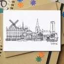 Wirral Skyline Greetings Card