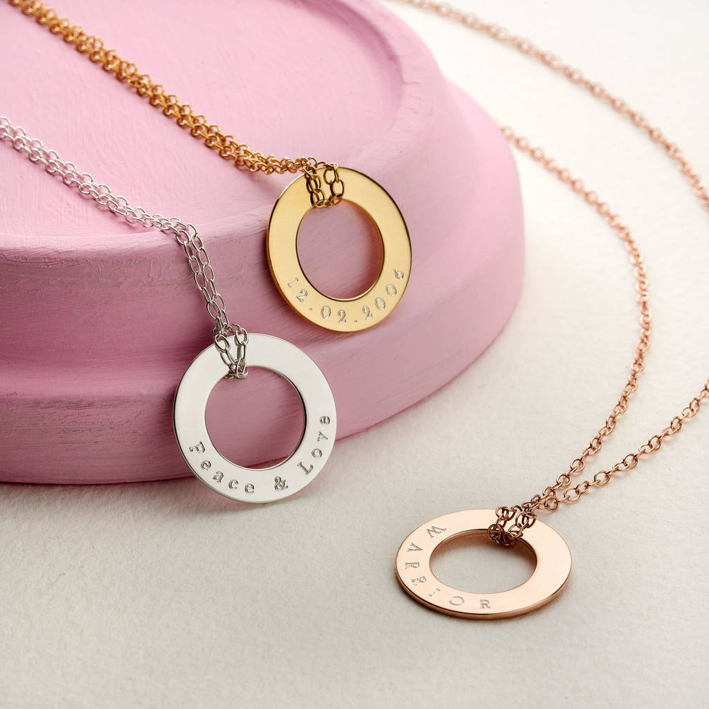 bottom kids silver names name sterling lowercase across circles disc product and birth love mom birthdate in along of necklace date
