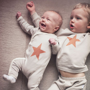 New Brother Or Sister Matching Star Gift Set