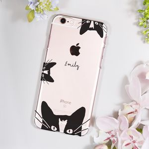 Personalised Cat Phone Case - stocking fillers for teenagers