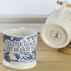 To The Good Night Is Not Dark Half Pint Mug - mugs