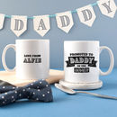 Personalised 'Promoted To Dad' Mug