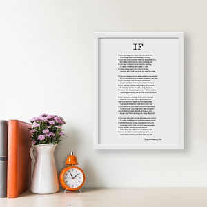 Personalised If Poem Print - typography
