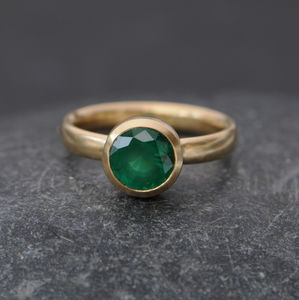 Emerald Gold Ring - rings