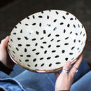 Personalised Polka Dot Ceramic Serving Bowl