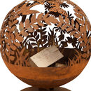 Meadow Laser Cut Rust Fire Globe