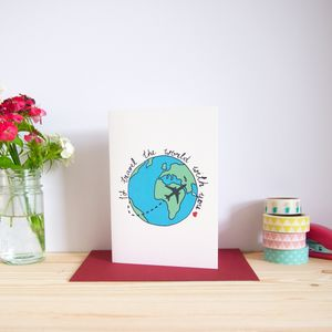 'I'd Travel The World With You' Love Card