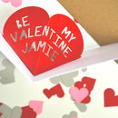 Personalised Pop Up Heart Valentines Card
