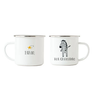 Zebra Hot Chocolate Enamel Mug