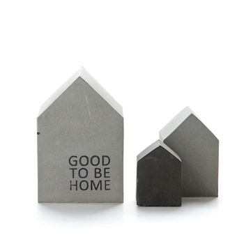 Concrete Christmas House Sculpture Set by PASiNGA