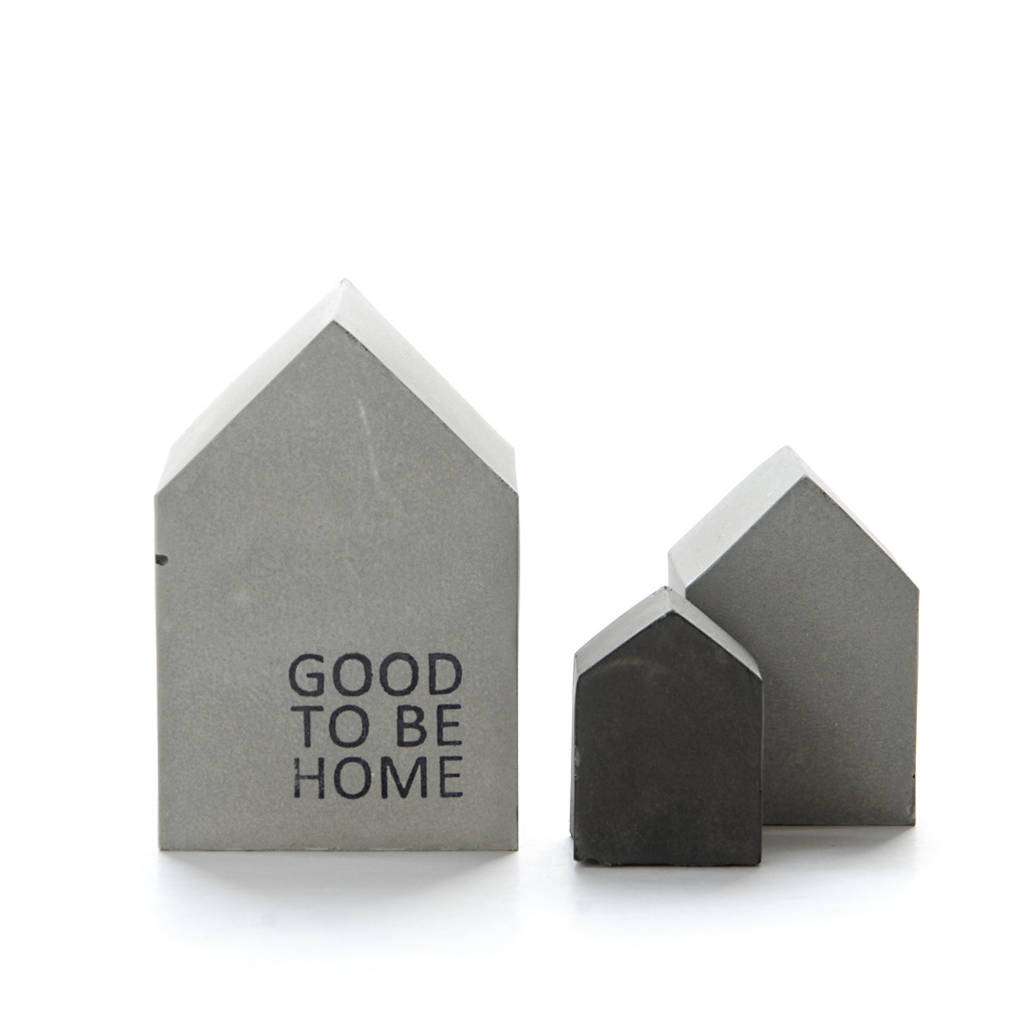 Concrete Christmas Quote House Sculpture, Gift