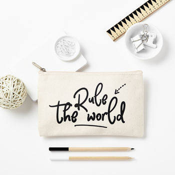 'Rule The World' Pencil Case