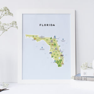 Map Of Florida - posters & prints