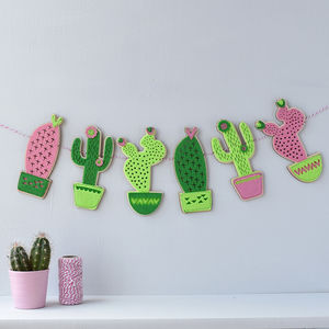Cactus Garland - children's room accessories