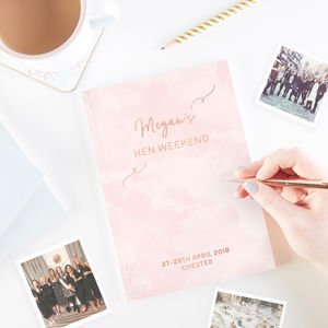Hen Party Guest Book Personalised - hen party ideas