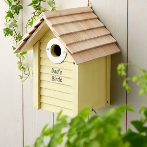 Personalised Wooden Bird Box - gifts for grandparents