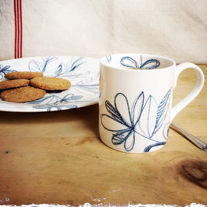 Blue Scribble Tree Mug - sale by category
