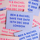 Colourful Hot Foil Save The Date Cards