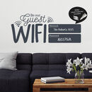 Write And Erase Wifi Password Sign