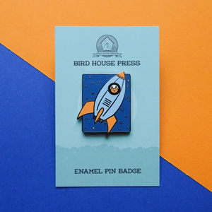 Rocket Cat Cat Pin Badge Astronaut Cat Enamel Pin Badge
