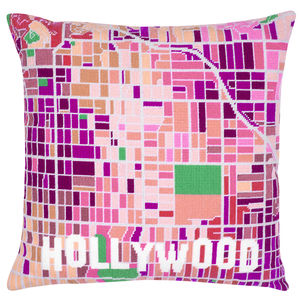Contemporary Hollywood White City Map Tapestry Kit
