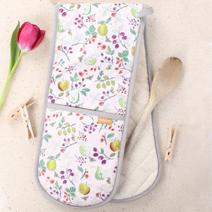 British Summer Fruits Double Oven Mitts - kitchen