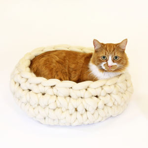 Diy Cat Bed, Crochet Kit Super Chunky Wool