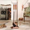 Copper Four Piece Fireside Companion Set