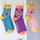 Monogram Bamboo Ankle Socks