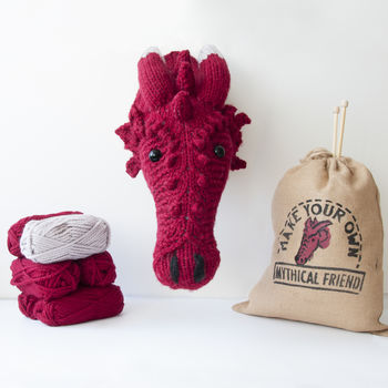 Make Your Own Faux Dragon Knitting Kit