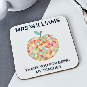Personalised Teacher Thank You Coaster - gifts for teachers
