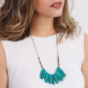 Statement Turquoise Shard Cluster Necklace