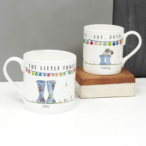 Personalised Mummy And Me Welly Mug Set - gifts for her
