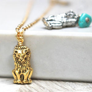 Lion Charm Necklace - children's accessories