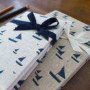 Sailboats Linen Notebook