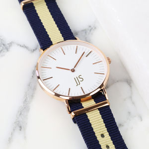 Personalised Watch With Fabric Strap