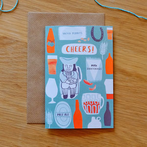 Illustrated Cheers Card