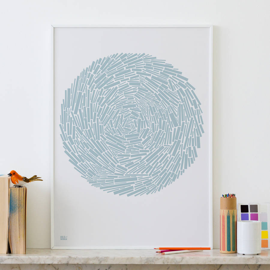'Nest' Geometric Abstract Screen Print