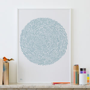 'Nest' Geometric Abstract Screen Print - modern & abstract