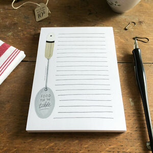 A6 Notepad With Kitchen Spoon Design