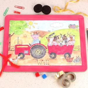 Mr Piggy's Tractor Placemat - kitchen