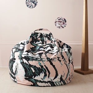 Patterned Bean Bag - floor cushions & beanbags