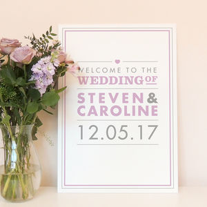 Amelia Wedding Welcome Sign