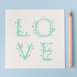 Floral Love Card - anniversary cards