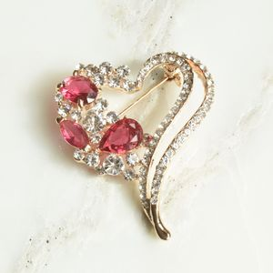Martine Heart Shaped Gold Brooch