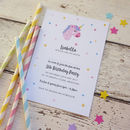Unicorn Personalised Party Invitations