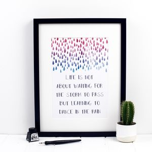 Dance In The Rain Print - shop by subject